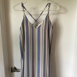 Blue and red stripped dress